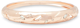 Alexis Bittar Rose Gold-tone Crystal Bangle