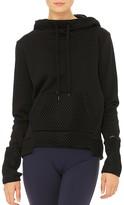 Alo Yoga Eclipse Mesh-Trimmed Hooded Sweatshirt