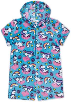 Candy Pink Yogacorn Fleece Pajama Romper