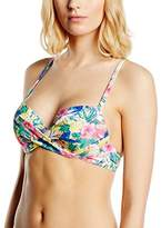 Marie Meili Women's Alexandra T-Shirt Bra Underwired Floral Bikini Top