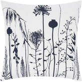 Clarissa Hulse Seed Heads Cushion - 45x45cm - White/Ink