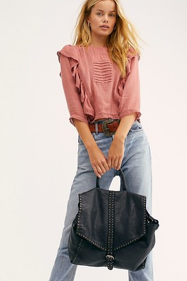 Free People Fp Collection Bianca Studded Leather Messenger Bag by FP Collection at