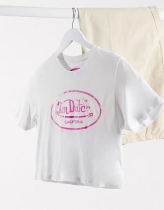 Von Dutch logo cropped t-shirt