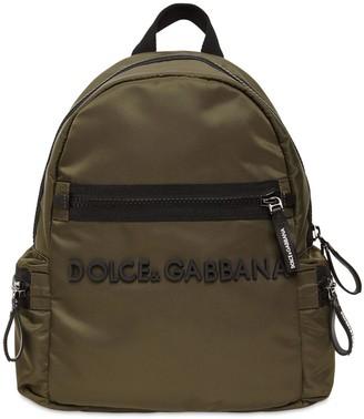 Dolce & Gabbana Nylon Backpack W/ Logo