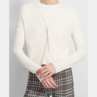 Theory Cropped Cardigan in Feather Cashmere