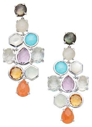 Ippolita Rock Candy Sterling Silver & Mixed-Stone Cascade Drop Earrings