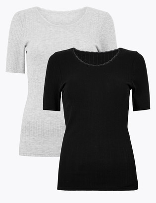 Marks and Spencer 2 Pack Thermal Pointelle Top