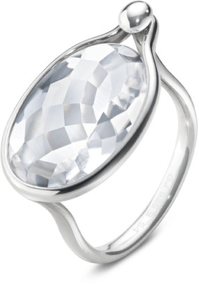 Georg Jensen Savannah Ring - Sterling Silver With Rock Crystal Large