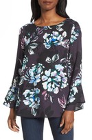 Chaus Women's Twilight Blooms Bell Sleeve Blouse