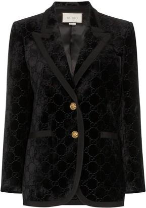 Gucci GG Supreme pattern blazer