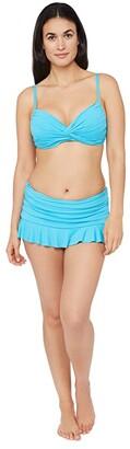 La Blanca Island Goddess Twist Front Bra Bikini Swimsuit Top (Poolside) Women's Swimwear