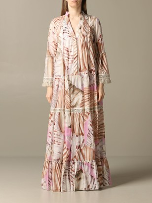 Blumarine Dress Long Dress In Printed Kaftan