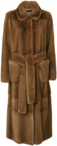 Manzoni 24 fur belt coat