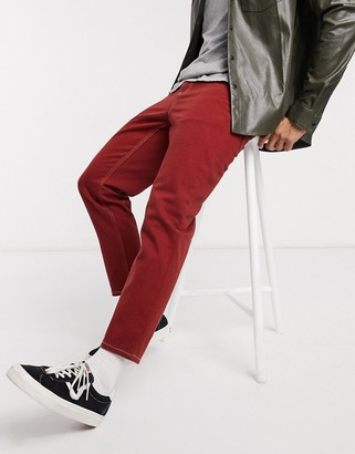 ASOS DESIGN classic rigid jeans in rust