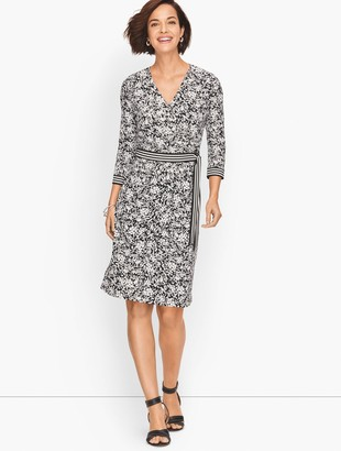 Talbots Faux Wrap Knit Dress