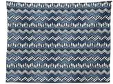 vipsung Nautical Decor Tablecloth Patchwork of Denim Fabric in Nautical Style Stitch Stripes Jeans Zigzag Chevron Dining Room Kitchen Rectangular Table Cover