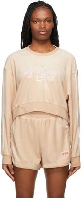Nike Pink Terry Sportswear Sweatshirt