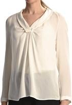 Paperwhite Silk Georgette Shirt - Long Sleeve (For Women)