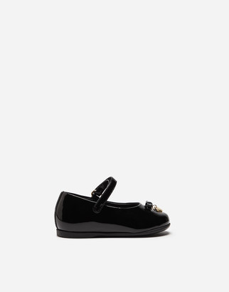 Dolce & Gabbana Patent Leather Mary Jane Ballet Flats