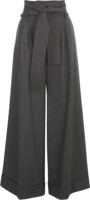 P.A.R.O.S.H. Long Wide Leg Pants W/lapel And Belt
