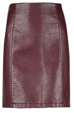 Dorothy Perkins Womens Tall Burgundy Pu Mini Skirt