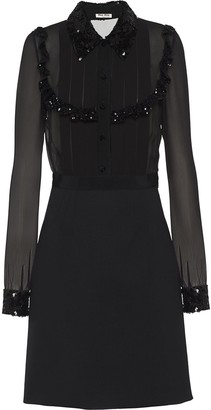 Miu Miu Sequin-Embellished Dress