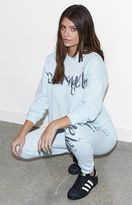 KENDALL + KYLIE Kendall & Kylie Cropped Airbrushed Pullover Hoodie