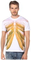 McQ by Alexander McQueen Wing Ribcage Drop Shoulder Tee (Soft White) - Apparel