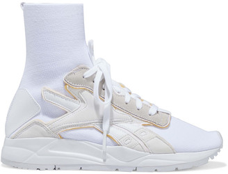 Reebok x Victoria Beckham Bolton Sock Stretch-knit, Leather And Suede High-top Sneakers