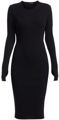 Helmut Lang Cotton Rib-Knit Dress