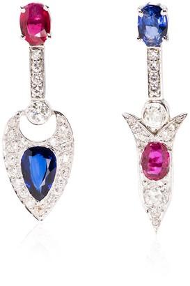 Mindi Mond Ruby And Sapphire Diamond Earrings