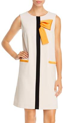 Paule Ka Sleeveless Bow-Detail Shift Dress