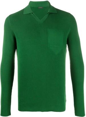 Zanone Knitted Polo Shirt