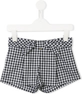 Lapin House - front bow checked shorts - kids - Cotton - 5 yrs
