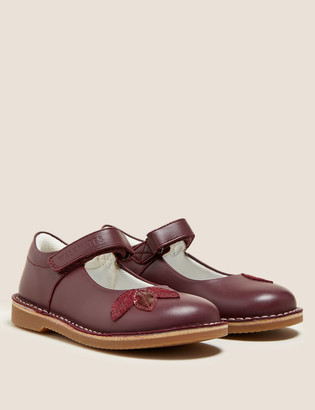 Marks and Spencer Kids' Leather Freshfeet Mary Jane Shoes (4 Small - 12 Small)