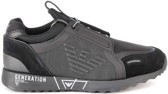 Emporio Armani Grey Generation Eagle Print Sneaker