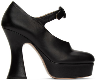 Miu Miu Black Platform Mary Jane Heels