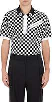 Givenchy MEN'S CHECKED GROMMET-DETAILED POLO SHIRT