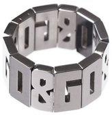 Dolce & Gabbana Jewels Ring OVERLAP DJ0537 DJ0538 DJ0540 DJ0542, Color: Silver-Coloured, Size: 19