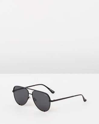 Quay High Key Mini Polarised Black Aviator Sunglasses