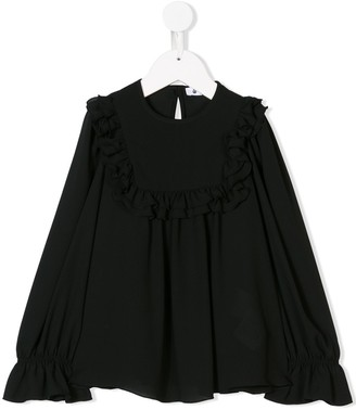 Dondup Kids Ruffle Trim Blouse