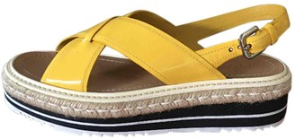 Prada Yellow Leather Sandals