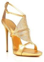 fereshte Women's Sexy Open Toe Stiletto Sandal Elegant Dress Party Ankle Strap Heels with Diamond EU 39 - US 8