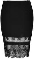 City Chic Midi Lace Tube Skirt