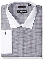 Stacy Adams Men's Big and Tall Large Glen Check Classic Fit Dress Shirt