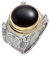 Konstantino Men's 'Minos' Etched Black Onyx Ring