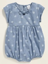 Old Navy Printed Chambray Bubble One-Piece for Baby