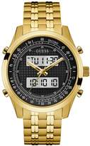 GUESS Men's Gold-Tone Analog and Digital Chronograph Watch