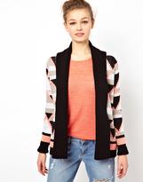 A/Wear A Wear Geo Triangle Intarsia Cardigan