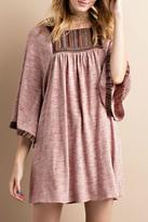 Easel Vintage Trim Dress